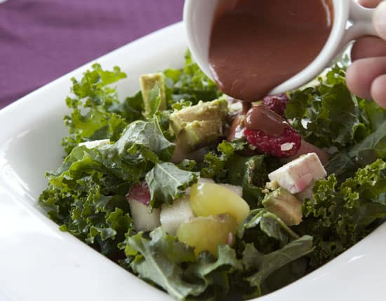 Raspberry Kale Salad Recipe from Macheesmo