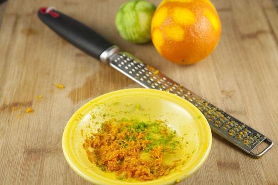 citrus zest for Pomegranate Sprouts