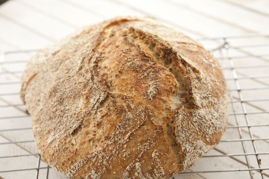 cool the Oat No Knead Bread