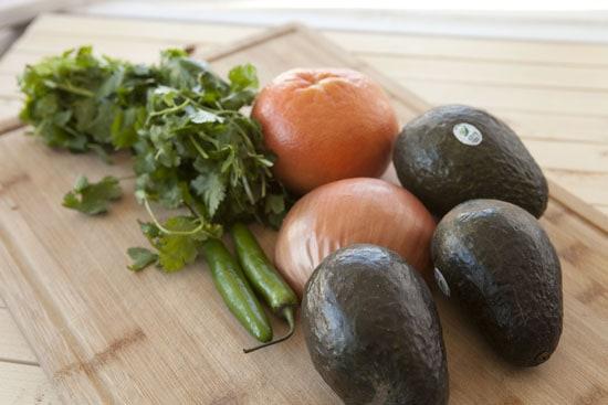 ingredients for Grapefruit Guacamole
