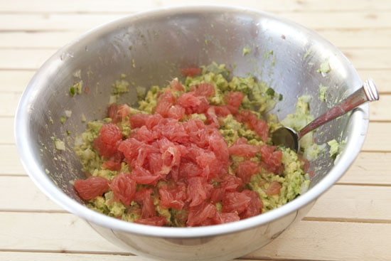 stirred into Grapefruit Guacamole