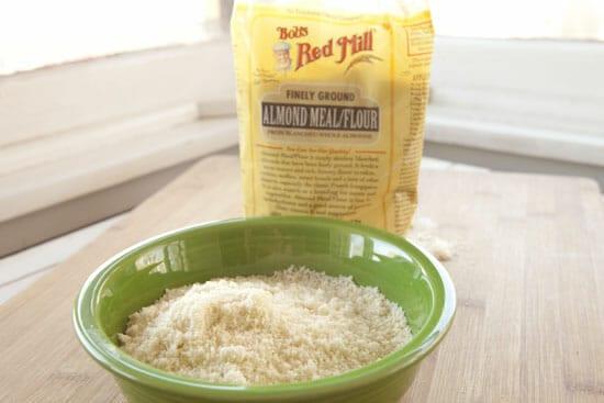 Almond Blondies start with almond flour