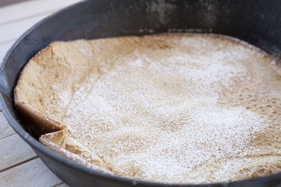 sugared Gingerbread Dutch Baby