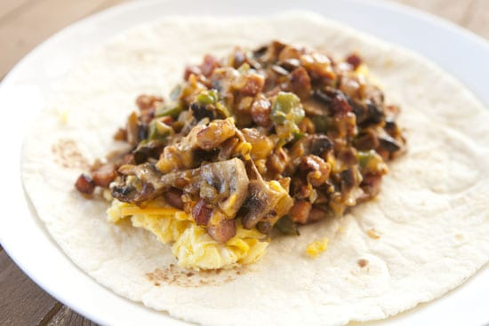 filled Denver Burrito