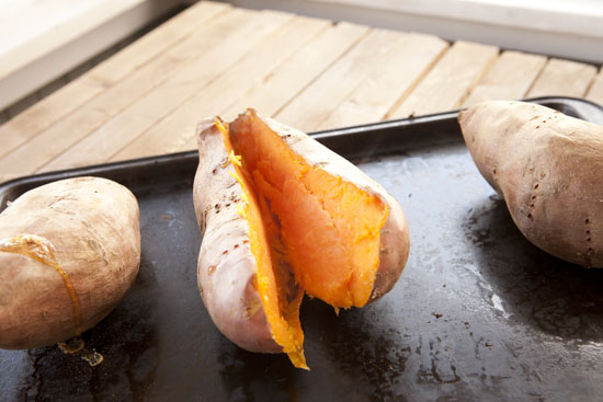 roasted Stuffed Sweet Potatoes