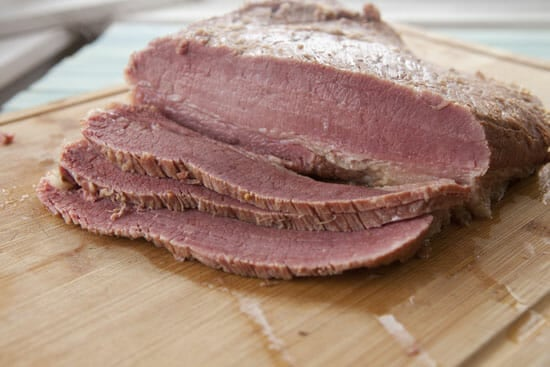 Homemade Corned Beef sliced