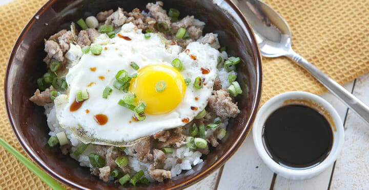 Loco Moco Rice Bowl Recipe Macheesmo