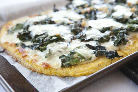 baked polenta pizza