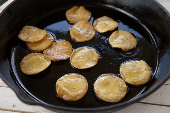 fried chips for Steak Tostada Bites