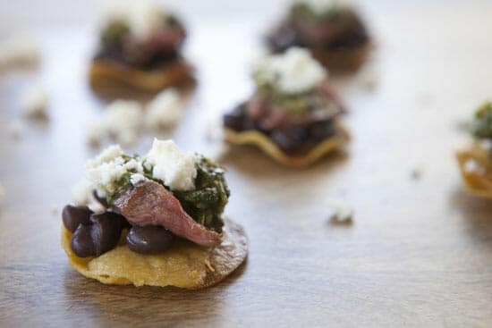 Steak Tostada Bites ~ Macheesmo