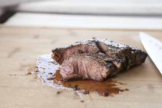 sliced steak for Steak Tostada Bites