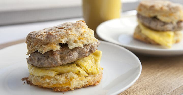 Sausage and Egg Biscuits - Sometimes it's important to slow down and these made-from-scratch sausage and egg sandwiches will make sure you enjoy breakfast. Plus, learn my tip for excellent homemade breakfast sausage!
