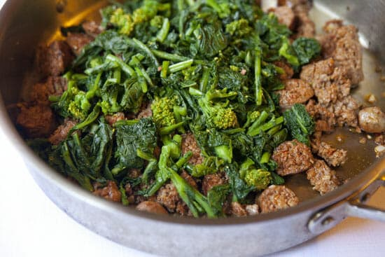 all together now - Broccoli Rabe Sausage Pasta