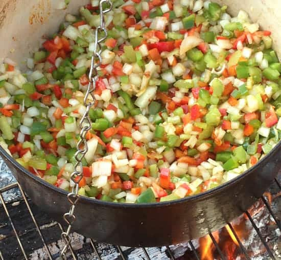 veg for Campfire Jambalaya
