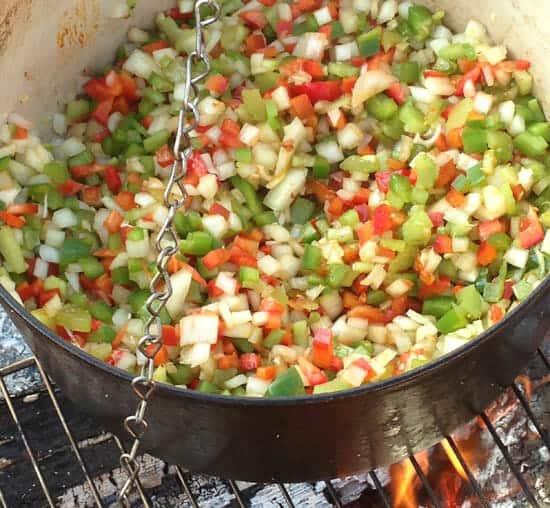 veg for Campfire Jambalaya