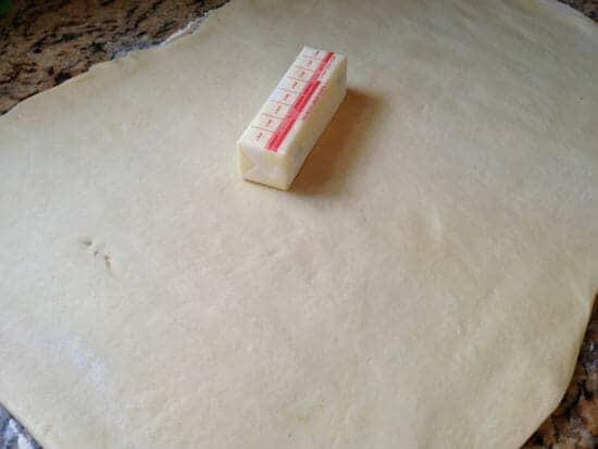 rolled dough - Campfire Cinnamon Rolls