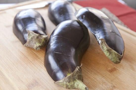 sliced eggplant - Homemade Baba Ganoush