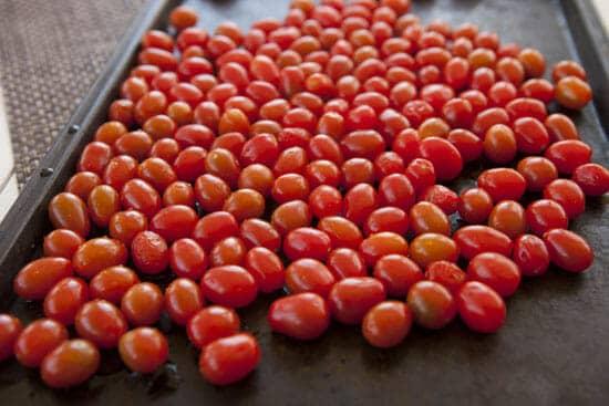 grape tomatoes for Tomato Brie Sandwich