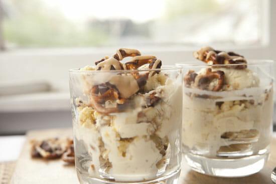 topped - Chocolate Pretzel Ice Cream