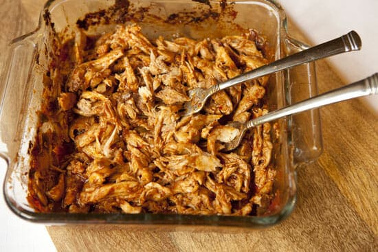 shredded chicken for Chicken Mexican Pizzas