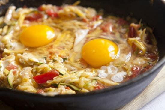 added eggs for Squash Baked Eggs