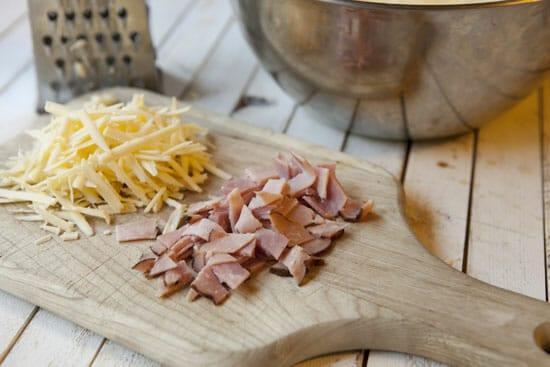 Ham and Cheese Waffles - Macheesmo