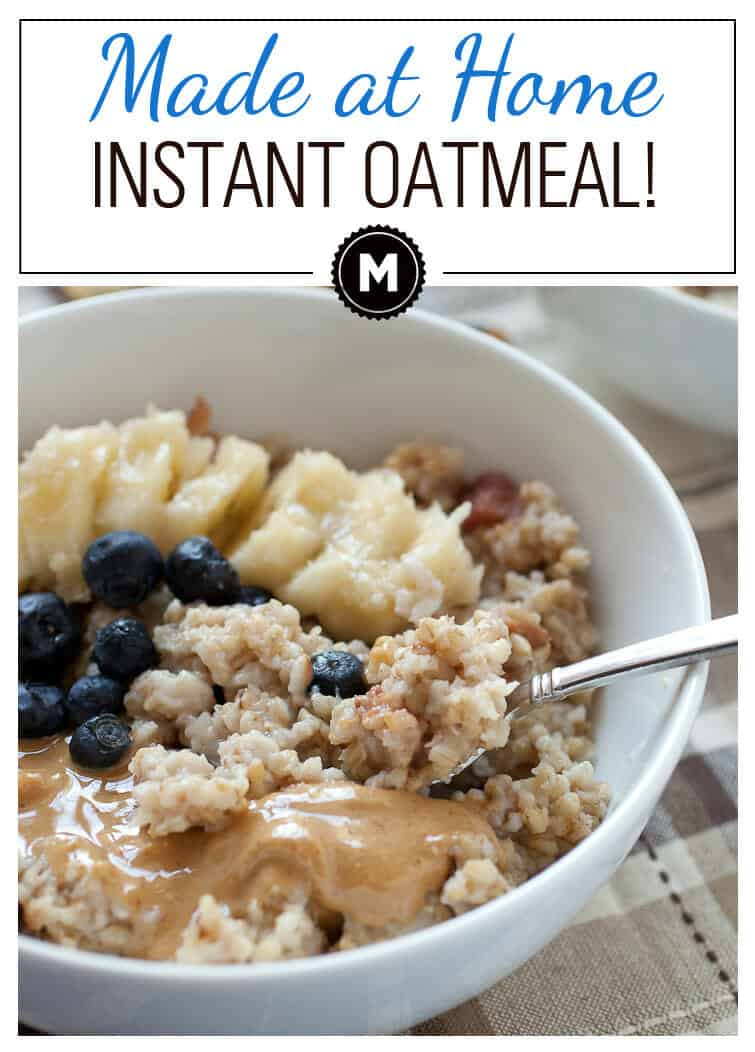 How to Make Instant Oatmeal for the week with steel-cut oats, dried fruit, and all the toppings. Please stop buying packets of ground up cardboard.