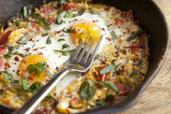 finished Squash Baked Eggs