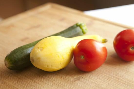 veg for Squash Baked Eggs