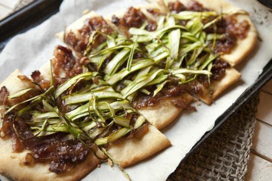 asparagus flatbread from macheesmo