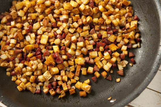 All together now. Hot Dog Hash from Macheesmo
