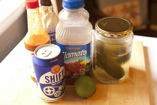 ingredients for the Michelada recipe