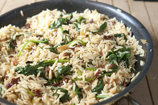 All together now. Spinach Orzo from Macheesmo