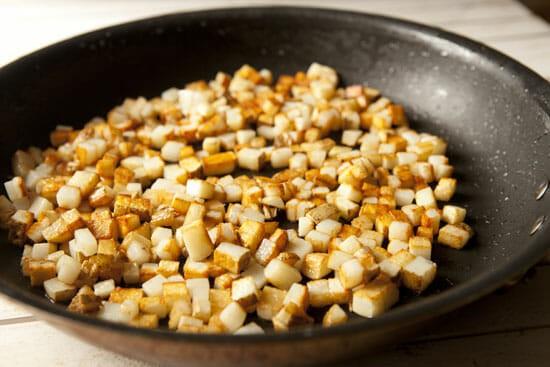 Potatoes second - Hot Dog Hash