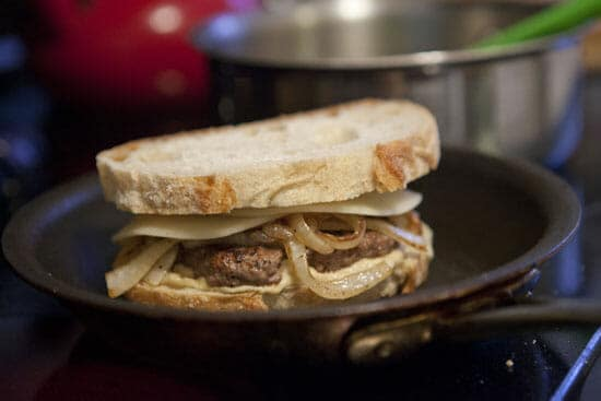 Top it off. Hummus Patty Melt