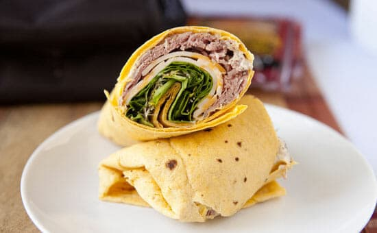 Great lunch! Horseradish Roast Beef Wrap from Macheesmo