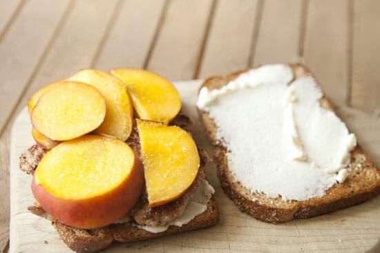 Season the peaches! Peach Sandwich - Macheesmo