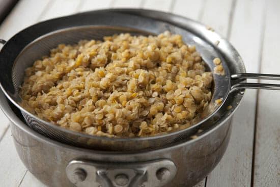 Lentils cooked for Lentil Falafels