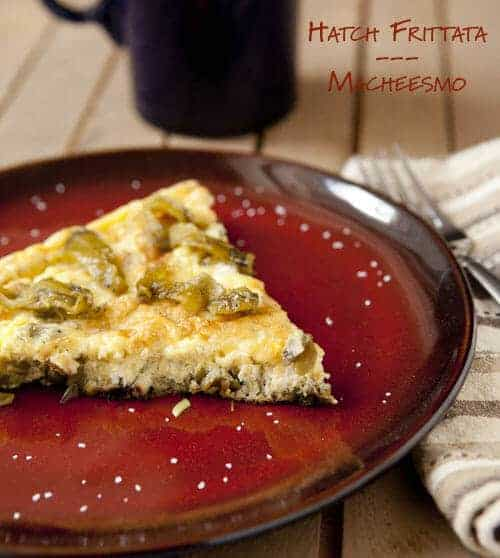 Chile Frittata with Roasted Peppers and Leeks ~ Macheesmo