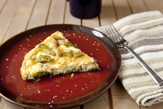 Extra chiles on top because why not! Chile Frittata ~ Macheesmo
