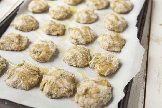 Lentil Falafels - Ready to bake.