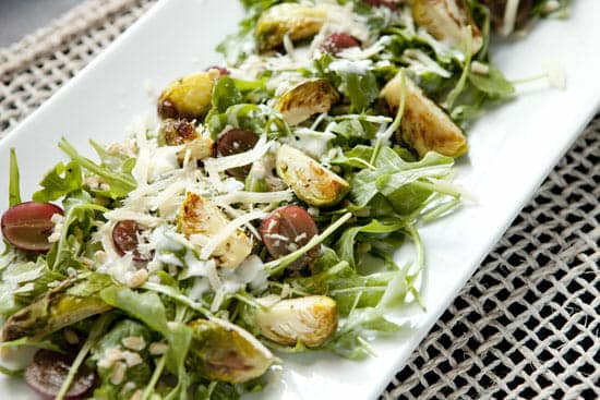 Roasted Brussel Sprout Salad ~ Macheesmo