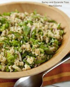 Escarole Barley Salad via Macheesmo