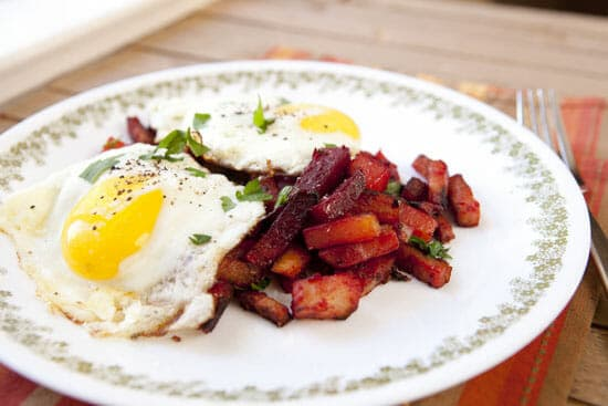 Red Flannel Hash with eggs! Macheesmo