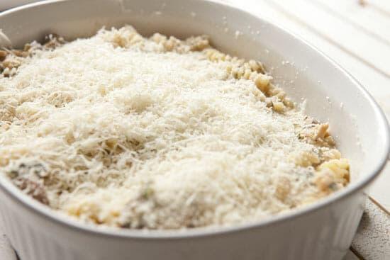 Homemade Tuna Noodle Casserole Ready to bake!
