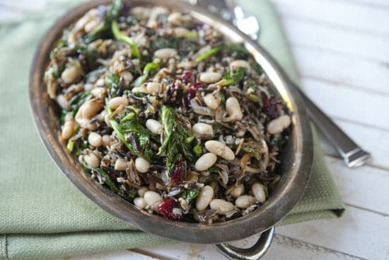 Love this dish - Wild Rice Spinach Salad