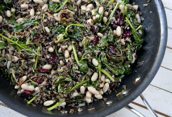 Good mix - Wild Rice Spinach Salad