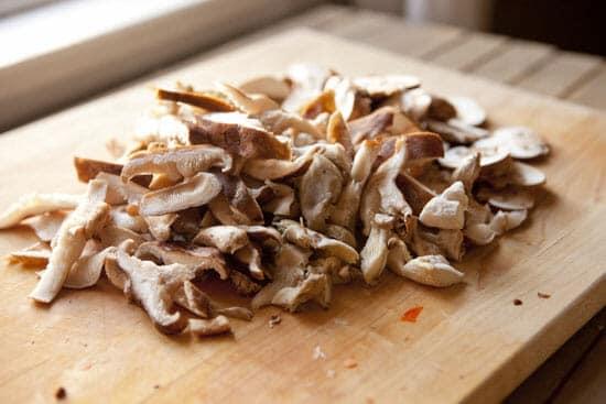 A variety of 'shrooms - Mushroom Chicken Soup