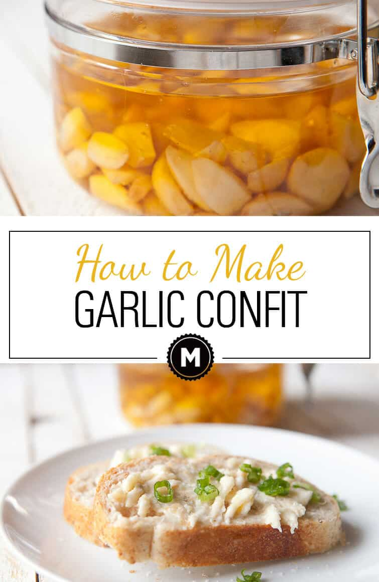 How to make Garlic Confit at home! It's easy to make in large batches and keeps well for a long time. You can use it for so many things, but is really best just smeared on toast!