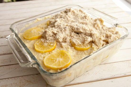 Top layer and crumb! - Meyer Lemon Coffee Cake